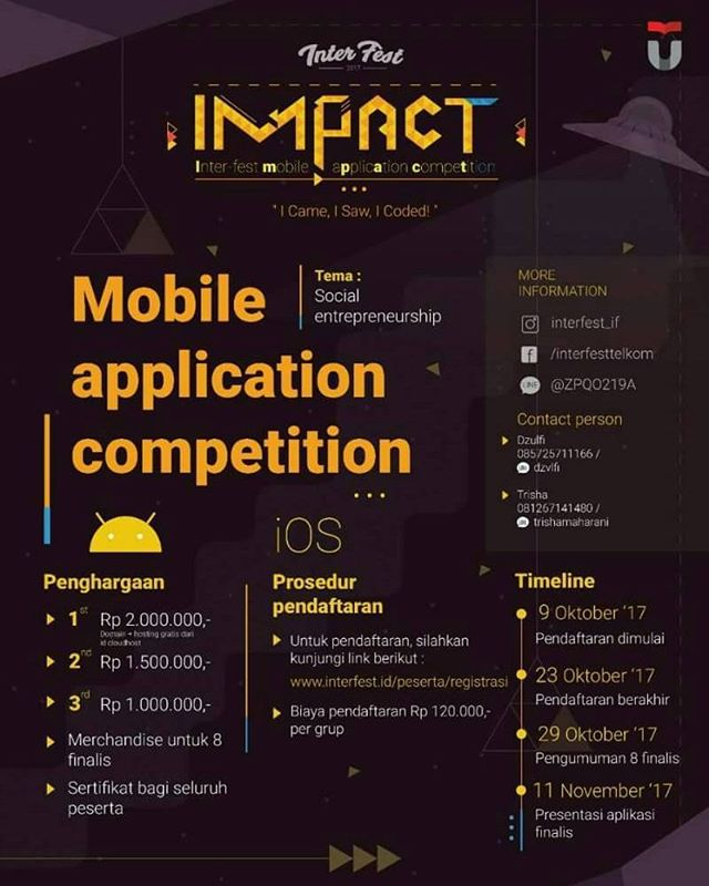 Inter-Fest Mobile Application Competition 2017 | Univ. Telkom | Mahasiswa