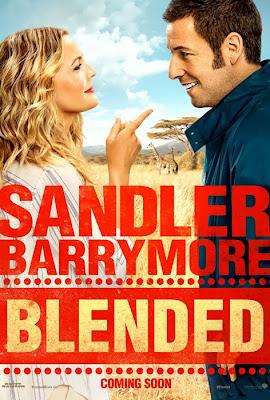 Poster oficial pentru filmul Blended cu Adam Sandler şi Drew Barrymore