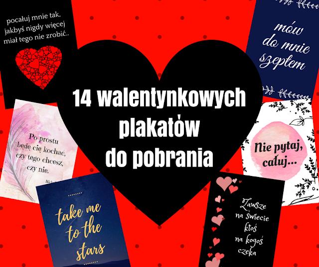14 Walentynkowych plakatów do pobrania