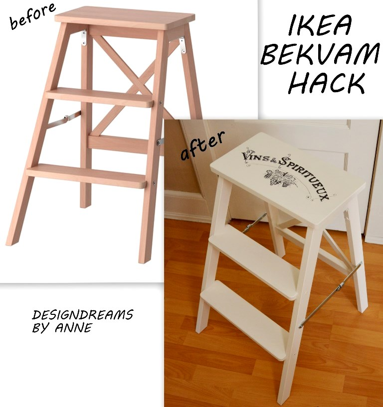 With ...  sc 1 st  Design Dreams by Anne - blogger & DesignDreams by Anne: Ikea Hack - Bekvam Stepladder Makeover islam-shia.org