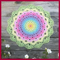 Mandala flor a crochet