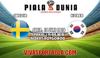 Prediksi Bola Swedia vs Korea 18 Juni 2018