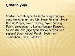 Istilah syair berasal dari kata Arab Syi Materi Sekolah |  Pengertian Syair dan Tema Dari Syair (Syair Perahu)