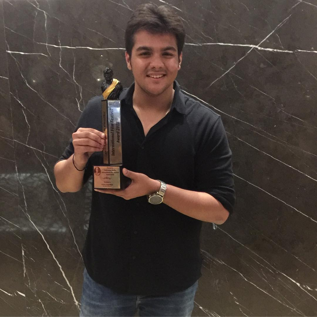 Ashish Chanchlani with his Dadasaheb Phalke Award