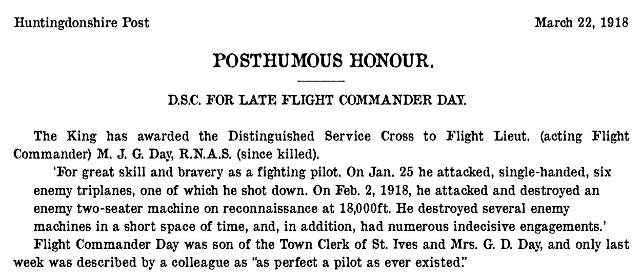 St Ives 22 March 1918