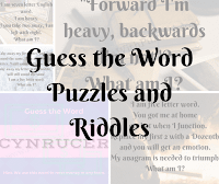 Guess the Word Puzzles and Riddles with answers