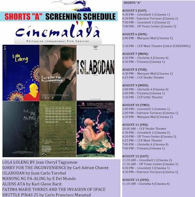 Film Review : CINEMALAYA - SHORTS A (2017) ~ Star Powerhouse
