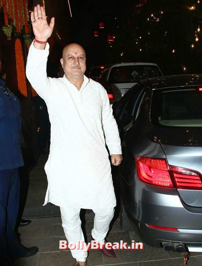 Anupam Kher, Photos from Amitabh Bachchan's Diwali Bash 2014