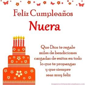 Frases para desear Feliz Cumpleaños Nuera