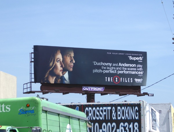 The X-Files 2016 Emmy billboard