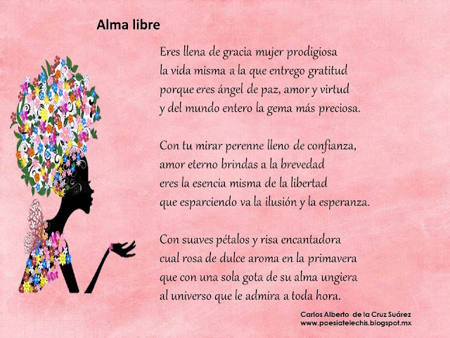 Poema día internacional de la mujer Alma libre poema de Carlos de la Cruz