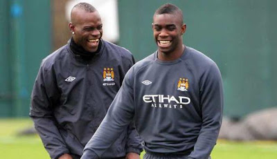 Mario Balotelli dan Micah Richards