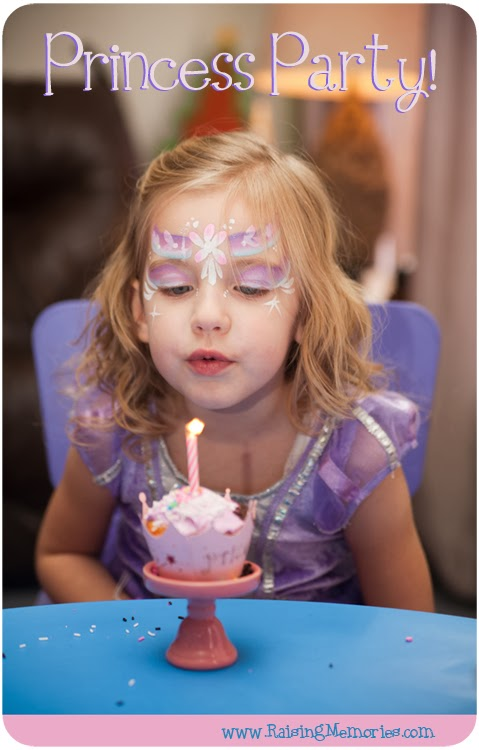 Pretty Princess Party Made Easy! at www.RaisingMemories.com