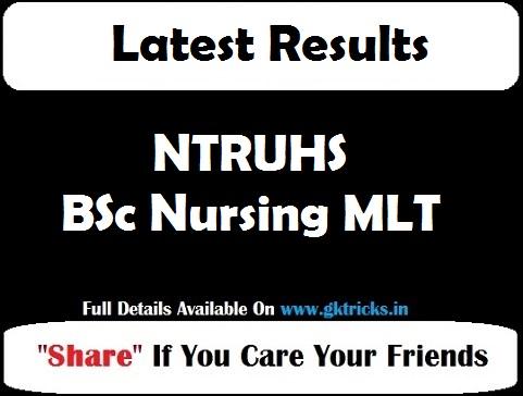 NTRUHS BSc Nursing MLT