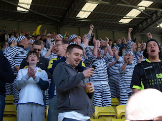 Leeds fans dress up as convicts