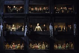 Verdi: Don Carlos - Opera de Lyon, Michele Pertusi, Sally Matthews, Stephane Degout  (Photo Jean Louis Fernandez)