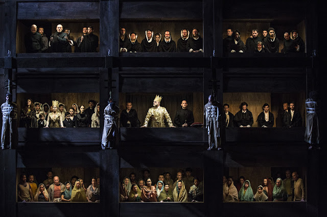 Verdi: Don Carlos - Opera de Lyon, Michele Pertusi, Sally Matthews, Stephane Degout  (Photo Jean Louis Fernandez)