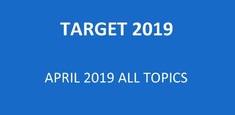 All Topics of April 2019 - Download pdf