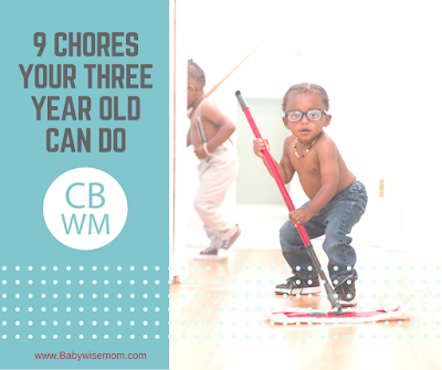 9 Chores Your Three Year Old Can Do