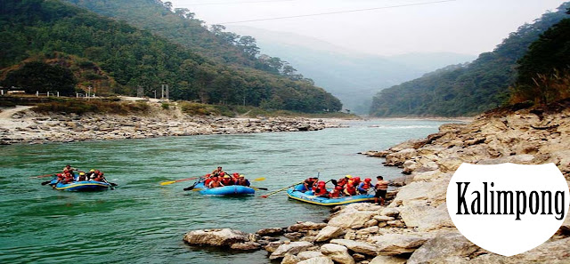 river rafting in Kalimpong, West Bengal