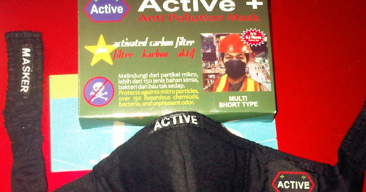 Masker Anti Polusi Debu Kain Karbon Aktif Active Toko