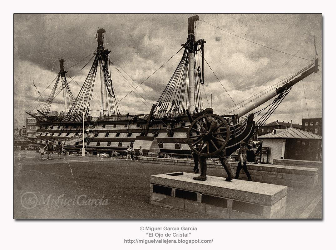 El HMS Victory, buque insignia del Vicealmirante Nelson en Trafalgar.