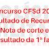 CRS deve divulgar hoje o resultado dos recursos. Resultado da 1ª fase sai no dia 04/10