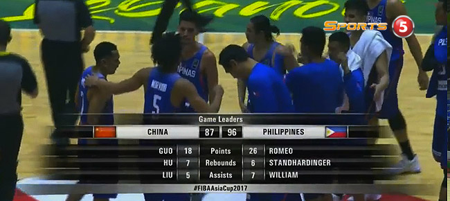 Gilas Pilipinas def. China, 96-87 (REPLAY VIDEO)  FIBA Asia Cup 2017 | August 9