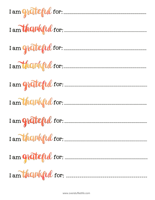Thankful Jar free printable gratitude strips.