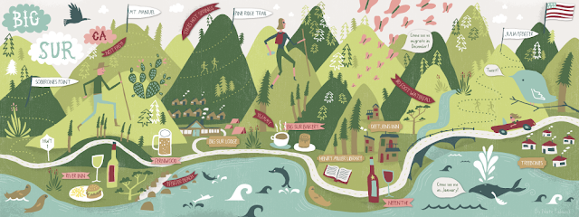 I Draw Maps: Map of Big Sur for They Draw & Travel