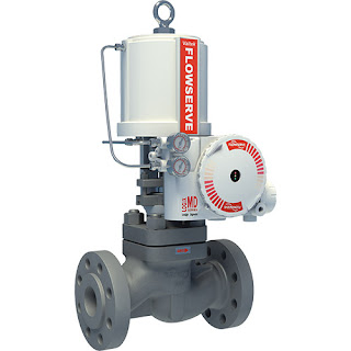 industrial control valve with actuator and positioner