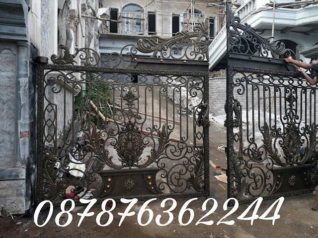 Pintu Pagar Besi Tempa Klasik Mewah Dan Elegan Besi Tempa