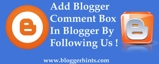 Blogger Comment Box Not Showing