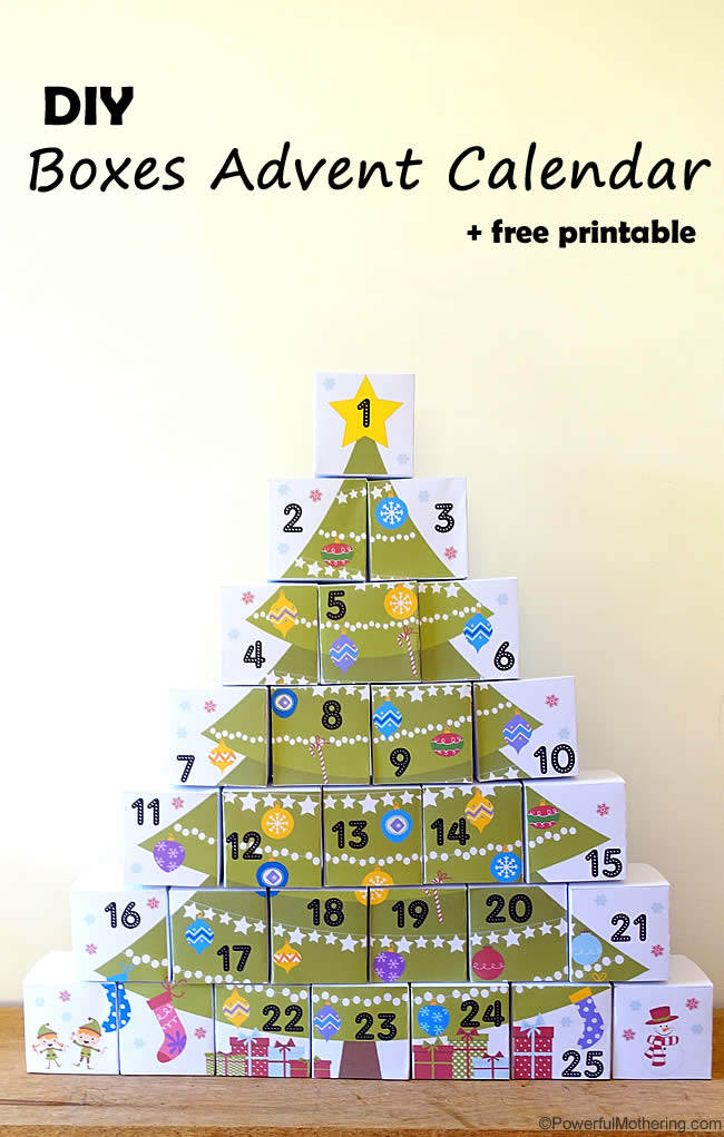http://www.powerfulmothering.com/diy-boxes-advent-calendar-with-free-printable/