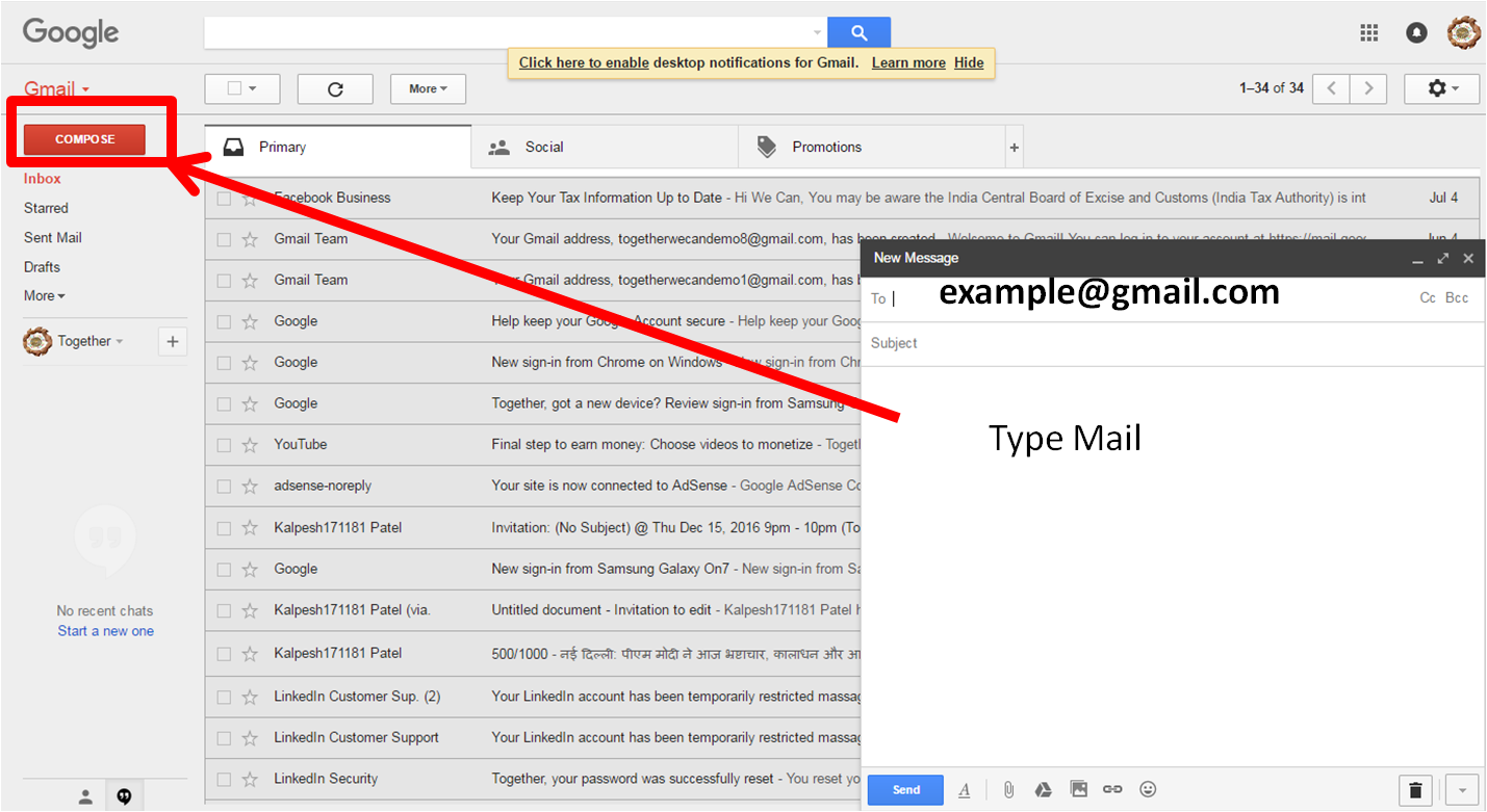 Send An Email Step By Instructions