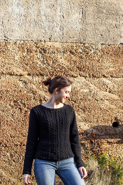 pullover mit zopfmuster selber stricken diy handmade
