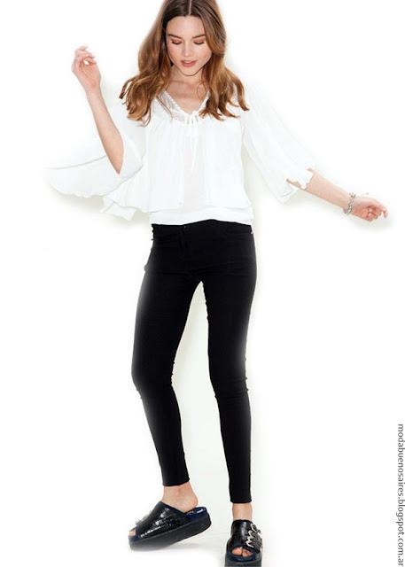 Blusas de moda con mangas acampanadas verano 2017 Asterisco ropa de mujer.