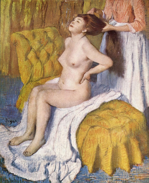 Woman Having Her Hair Combed by Edgar Degas (circa 1885)