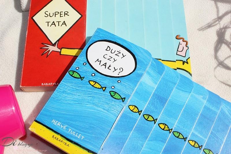 Duży czy mały? i Super tata, czyli schodkowe książeczki dźwiękonaśladowcze Hervé Tulleta - recenzja