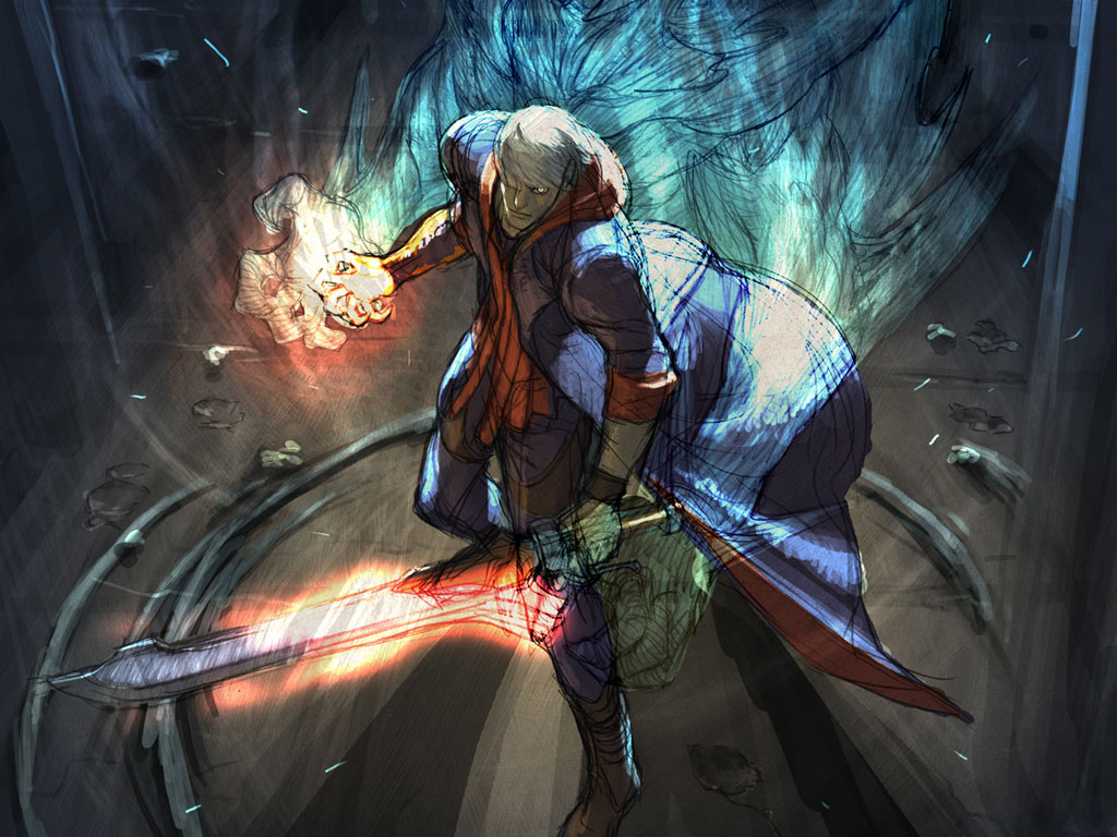 Devil May Cry 4 Wallpaper: Wallpaper Sea: Devil May Cry 4 Background