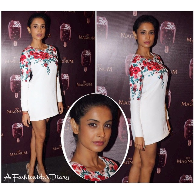 sarah jane dias ,  dress - vil vin sab u ,   bollywood , style , fashion , beauty ,, Sarah Jane Dias Latest Style File