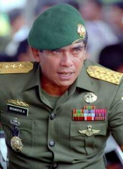 Indonesian military figures: Jenderal (Purn) TNI Wismoyo