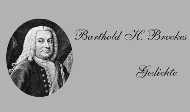 Bild des Barockdichter Barthold H. Brockes