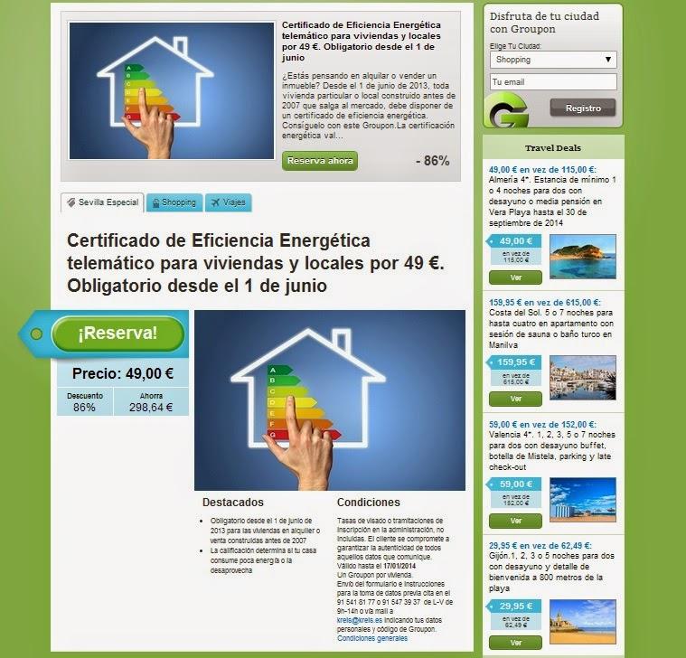 certificado energético a 49 euros