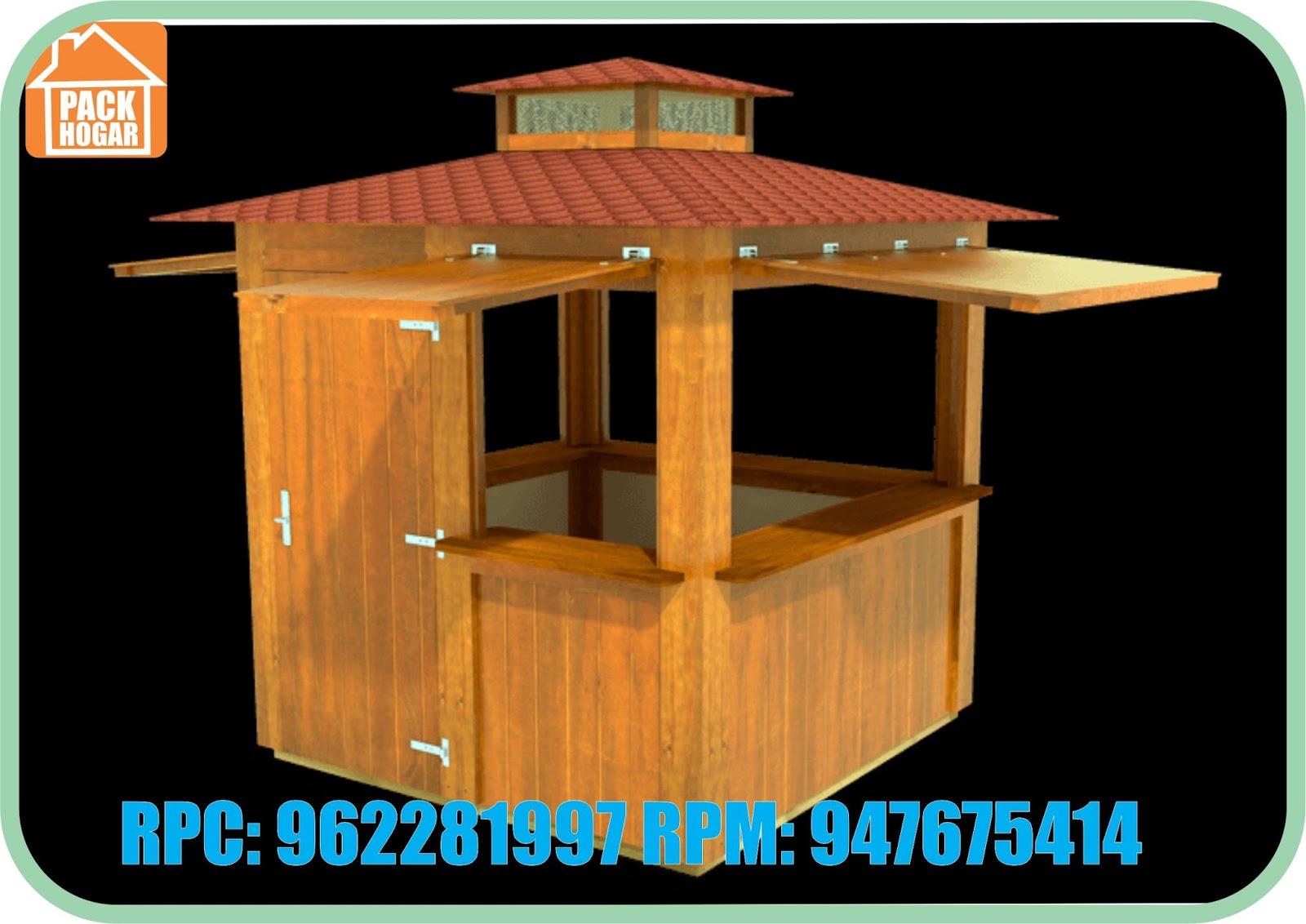 Kioscos de madera en peru for Kiosco de madera para jardin