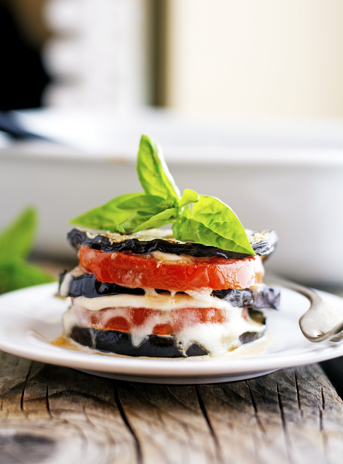 Summer Eggplant Parmesan Stacks