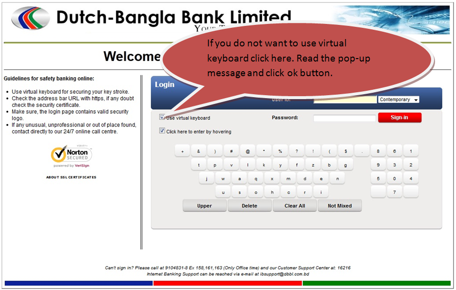 DBBL Internet Banking login ,dutch bangla bank Internet Banking login