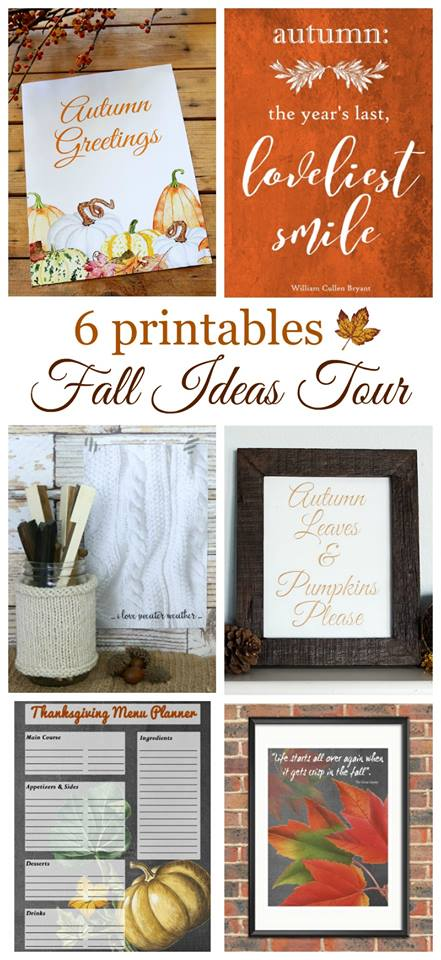 Fall Printables - Fall Ideas Tour 2016