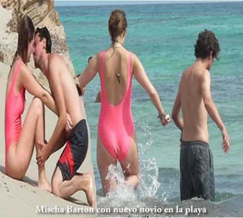 Mischa Barton Con Nuevo Novio en la Playa