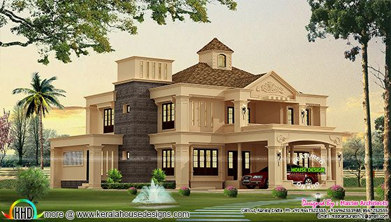 Kerala home Colonial model 3100 sq-ft